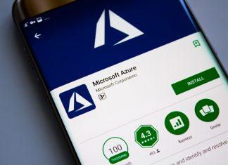 Microsoft Azure op beeldscherm