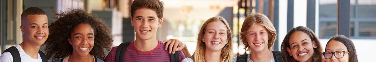 tieners op school